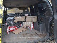 Captură de ţigări de contrabandă realizată cu focuri de armă