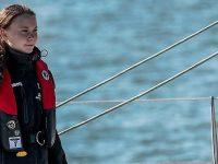 Greta Thunberg a ajuns la Lisabona după o călătorie de trei săptămâni la bordul unui catamaran