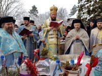 Slujba de sfinţire a apei la Mănăstirea Sf. Ioan cel Nou
