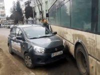 Blocaj de zeci de minute în centrul oraşului Suceava