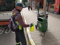 Sunt dezinfectate toate străzile şi trotuarele din municipiul Suceava