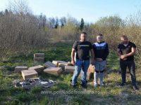 Trei suceveni au fost prinşi transportând peste 10.000 de pachete cu ţigări de contrabandă în apropierea frontierei cu Ucraina