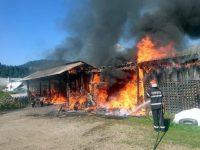 Puternic incendiu la o gospodărie din Dorna Arini