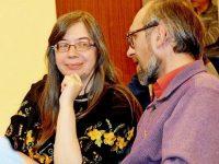 Mihaela Grădinariu cu soţul, pr. Stelian Grădinariu