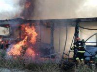 Panică într-un autobuz care a luat foc în mers