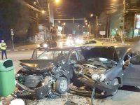 Accident rutier lângă sediul Primăriei Suceava
