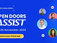 """Elevii şi studenţii suceveni interesaţi de o carieră în IT participă la prima ediţie online """"Open Doors ASSIST"""""""