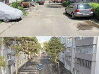 S-au finalizat lucrările de modernizare a străzii Avântului şi amenajarea a 112 locuri de parcare