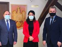 Vicepreşedintele CJ Suceava Niculai Barbă i-a prezentat secretarului de stat pentru Românii de Pretutindeni proiectele judeţului pentru diaspora