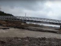 Pragul de fund al podului CF din Dărmăneşti va fi reparat din nou