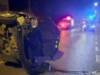 O maşină a avariat o conductă de gaz natural