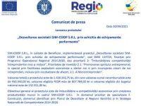 """Lansarea proiectului """"Dezvoltarea societatii SIM-COOP S.R.L. prin achizitia de echipamente performante"""""""