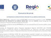 EXTINDEREA CAPACITATII DE PRODUCTIE LA DIMOLD IMPEX SRL