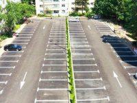 """S-au finalizat lucrările de amenajare a parcării din zona """"La Bazin"""""""