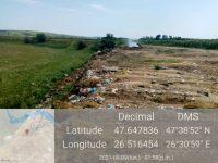 Pentru deşeuri abandonate ilegal pe un câmp, Garda de Mediu  a amendat cu 15.000 de lei Primăria Vereşti