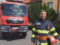 Pompier, erou în timpul liber