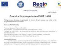 Comunicat incepere proiect cod SMIS 136596