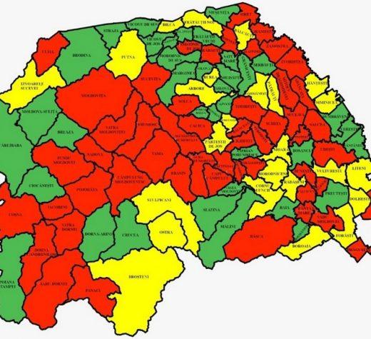 350 de noi cazuri de infecţie cu SARS-CoV-2 în judeţul Suceava